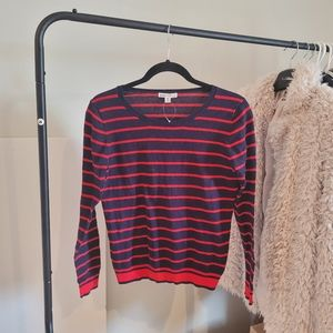 Jcrew Navy/Red Striped Sweater